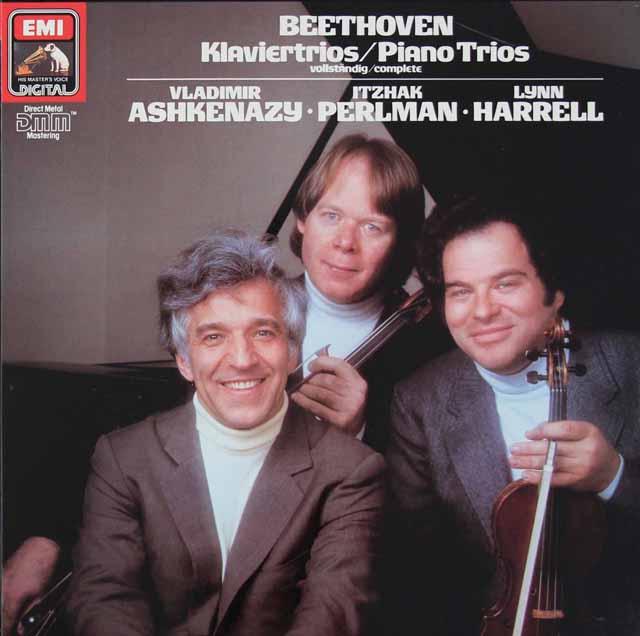 パールマン、アシュケナージ&ハレルのベートーヴェン/ピアノ三重奏曲全集 独EMI 3118 LP レコード