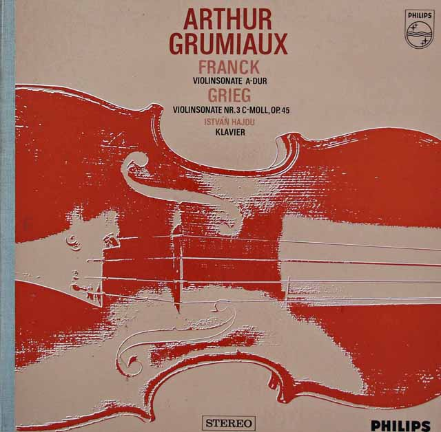 グリュミオーのフランク&グリーグ/ヴァイオリンソナタ集 蘭PHILIPS 3119 LP レコード