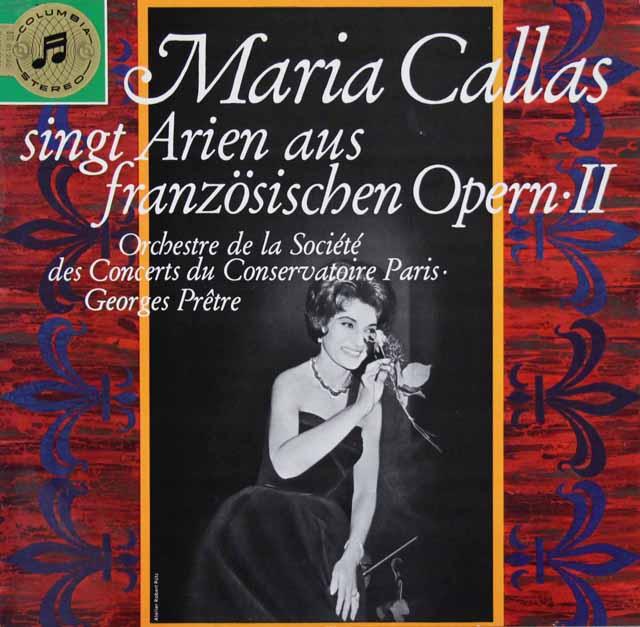 【独最初期盤】カラスのフランス・オペラ・アリア集 Vol..2 独Columbia 3120 LP レコード