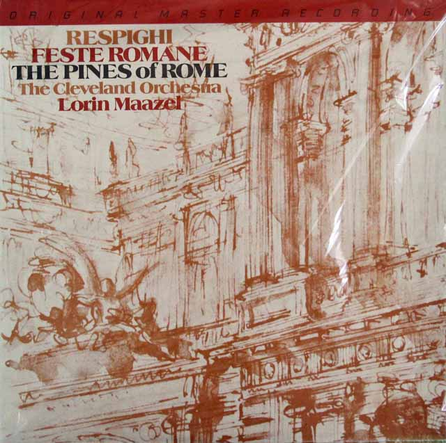 【未開封】 マゼールのレスピーギ/ローマの祭り、ローマの松 米Mobile Fidelity 3120 LP レコード