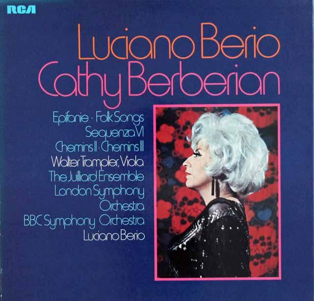 ベリオの自作自演/セクエンツァVIほか  独RCA 3118 LP レコード
