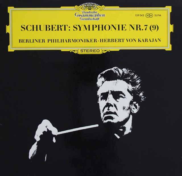 カラヤンのシューベルト/交響曲第7(9)番「ザ・グレイト」 独DGG 3121 LP レコード