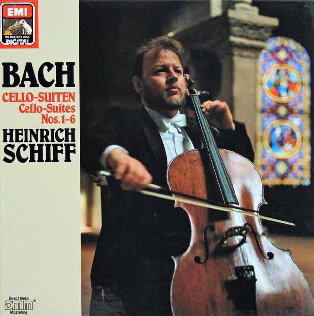 シフのバッハ/無伴奏チェロ組曲全曲 独EMI 3121 LP レコード