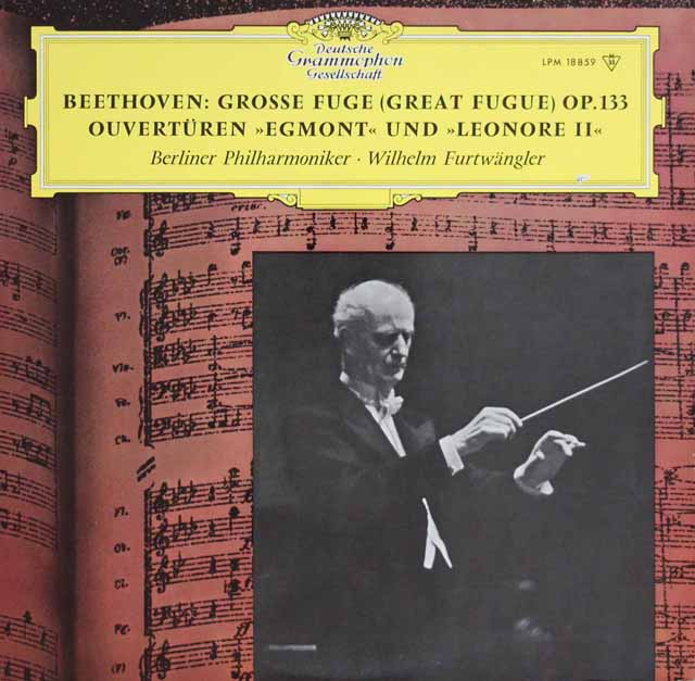 フルトヴェングラーのベートーヴェン/大フーガ&序曲集  独DGG 3122 LP レコード