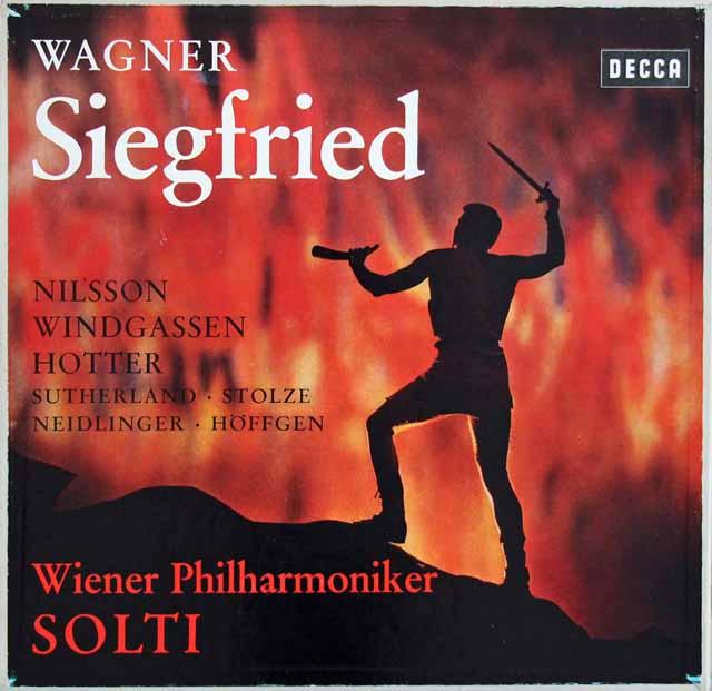 ショルティのワーグナー/「ジークフリート」 独DECCA 3122 LP レコード