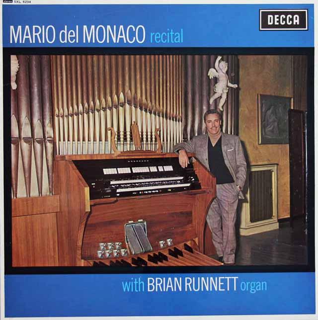 デル=モナコのヴィクトリア・ホール・オルガンとの協演  英DECCA 3122 LP レコード