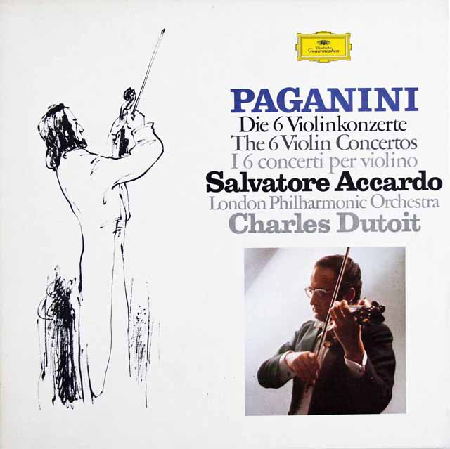 アッカルド & デュトワのパガニーニ/ヴァイオリン協奏曲全集  独DGG 3122 LP レコード