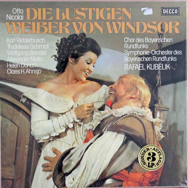 【未開封】 クーベリックのニコライ/歌劇「ウィンザーの陽気な女房たち」全曲 独DECCA 3122 LP レコード