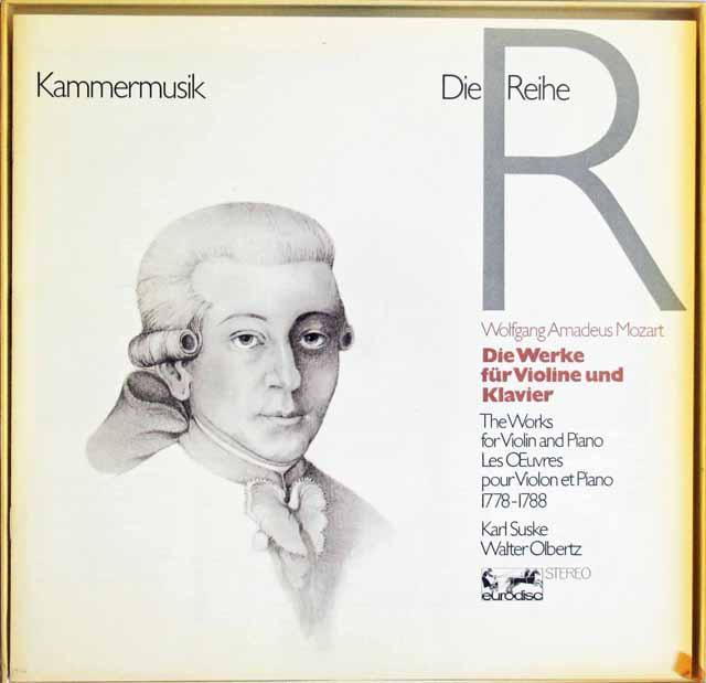 ズスケ&オルベルツのモーツァルト/ヴァイオリンとピアノのための作品集 独eurodisc 3122 LP レコード