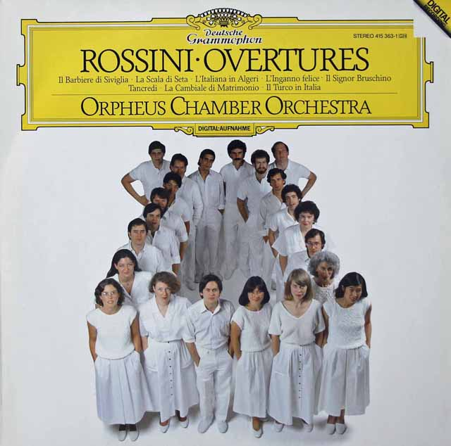 オルフェウス室内管弦楽団のロッシーニ/序曲集 独DGG 3125 LP レコード
