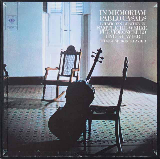 カザルスのベートーヴェン/チェロソナタ全集 独CBS 3125 LP レコード
