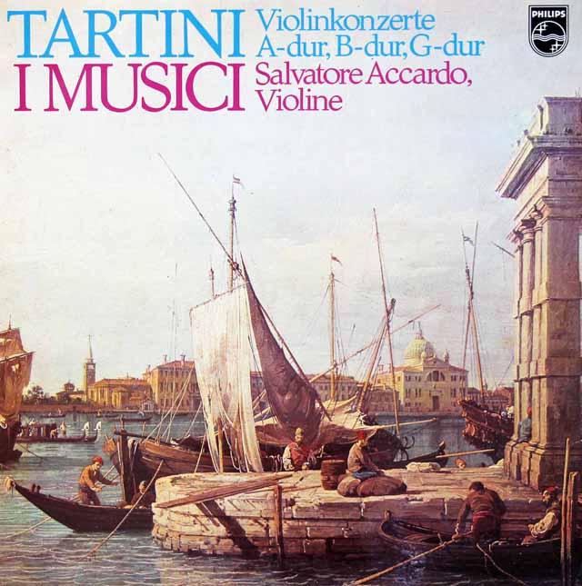 アッカルドとイ・ムジチのタルティーニ/ヴァイオリン協奏曲集 蘭PHILIPS 3126 LP レコード