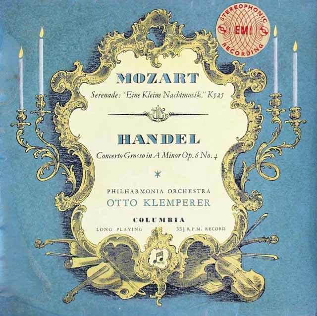 【10インチ盤・最初期盤】 クレンペラーのモーツァルト/「アイネ・クライネ・ナハトムジーク」ほか 英Columbia 3128 LP レコード