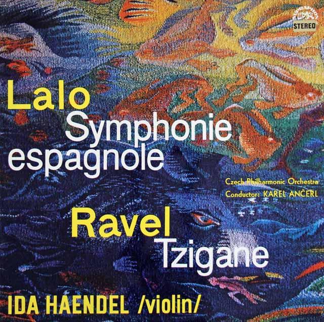 イダ・ヘンデル&アンチェルのラロ/スペイン交響曲ほか チェコスロヴァキアSUPRAPHON 3129 LP レコード