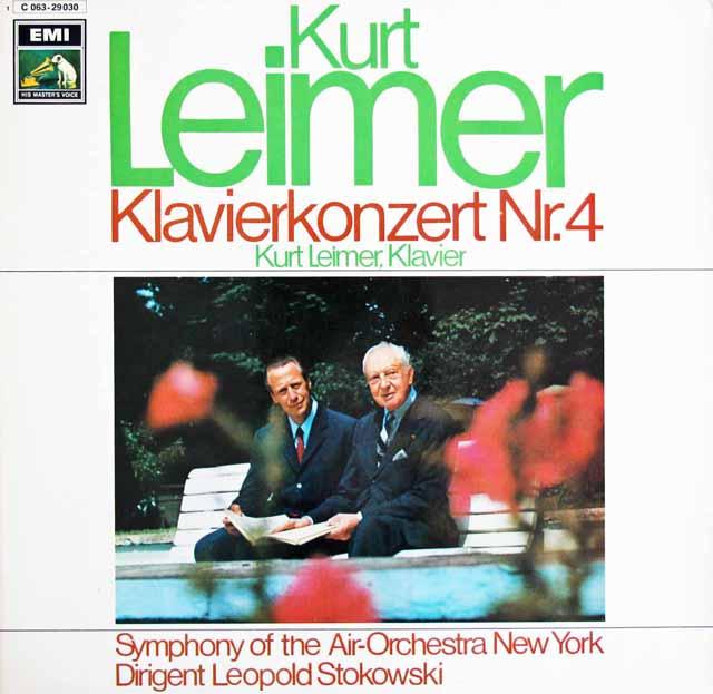 ライマー&ストコフスキーのベートーヴェン/ピアノ協奏曲第4番 独EMI 3129 LP レコード