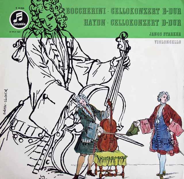 シュタルケル&ジュリーニのハイドン&ボッケリーニ/チェロ協奏曲集 独Columbia 3129 LP レコード