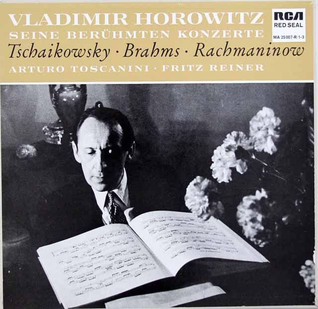 ホロヴィッツのピアノ協奏曲集(チャイコフスキー、ブラームス、ラフマニノフ) 独RCA 3129 LP レコード