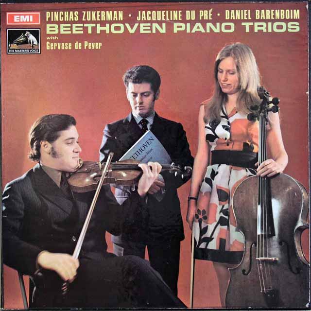 【オリジナル盤】デュ・プレ、ズッカーマン&バレンボイムのベートーヴェン/ピアノ三重奏曲集 英EMI 3130 LP レコード