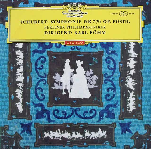 【赤ステレオ/オリジナル盤】ベームのシューベルト/交響曲第9番「グレイト」  独DGG 3130 LP レコード