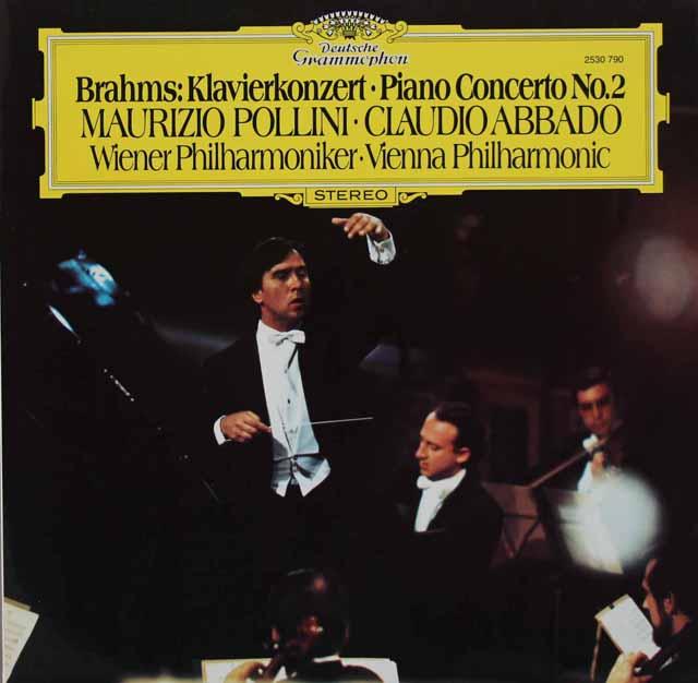 ポリーニ&アバドのブラームス/ピアノ協奏曲第2番 独DGG 3130 LP レコード