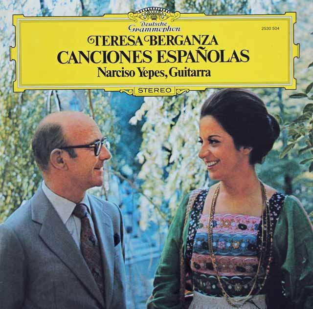 ベルガンサ&イエペスの「スペイン歌曲集」 独DGG 3130 LP レコード