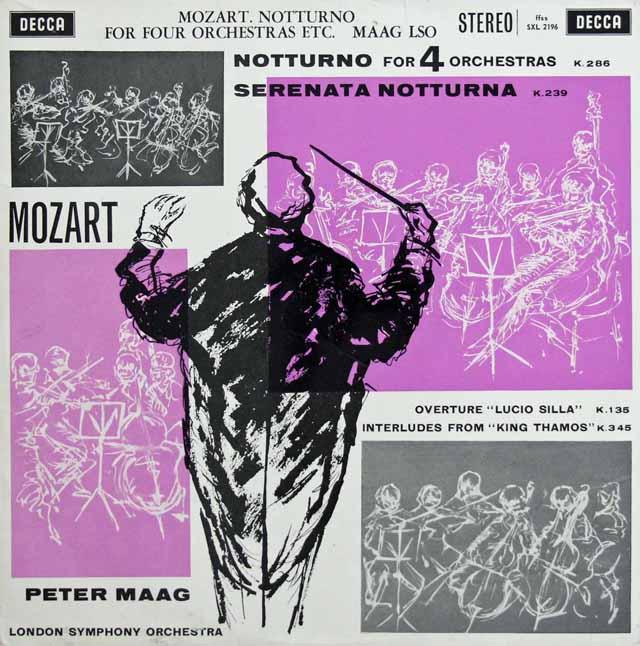 【オリジナル盤】 マークのモーツァルト/「セレナータ・ノットルナ」ほか 英DECCA 3132 LP レコード
