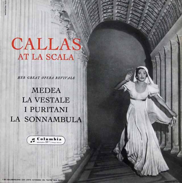 スカラ座のカラス 伊Columbia 3132 LP レコード
