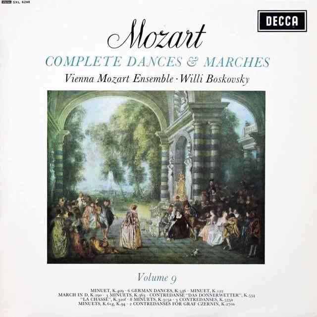 【オリジナル盤】ボスコフスキーのモーツァルト/舞曲と行進曲全集 Vol.9 英DECCA 3134 LP レコード