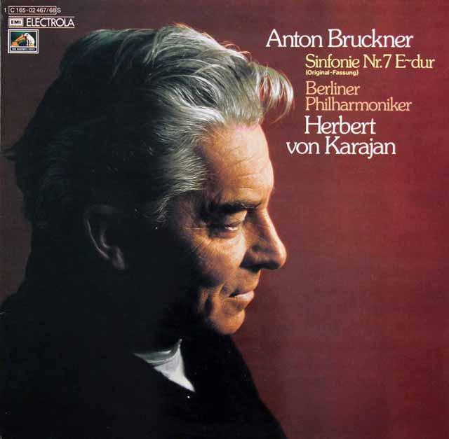 カラヤンのブルックナー/交響曲第7番 独EMI 3134 LP レコード