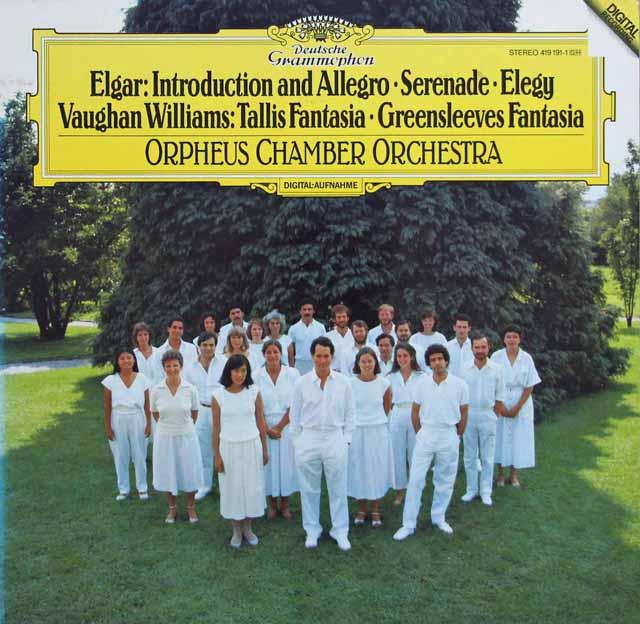 オルフェウス室内管弦楽団のエルガー/「序奏とアレグロ」ほか 独DGG 3135 LP レコード