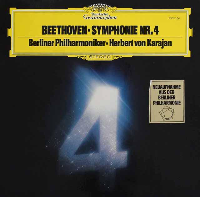 カラヤンのベートーヴェン/交響曲第4番 独DGG 3137 LP レコード