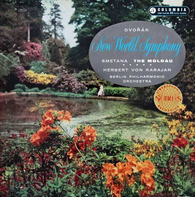【オリジナル盤】カラヤンのドヴォルザーク/交響曲第9(5)番「新世界より」ほか 英Columbia 3137 LP レコード