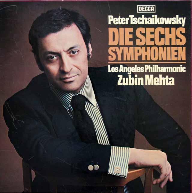 メータのチャイコフスキー/交響曲全集(全6曲) 独DECCA 3137 LP レコード
