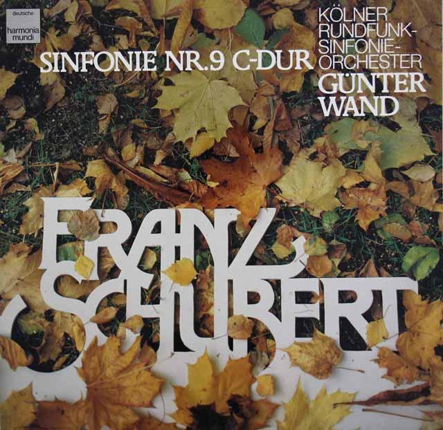 ヴァントのシューベルト/交響曲第9番「ザ・グレイト」 独HM 3138 LP レコード