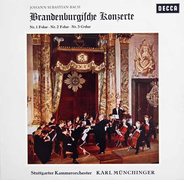 ミュンヒンガーのバッハ/ブランデンブルク協奏曲第1番~第6番 独DECCA 3138 LP レコード