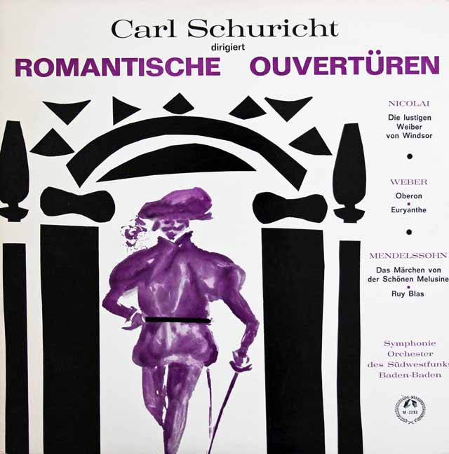 シューリヒトのロマンティック序曲集 仏CH 3138 LP レコード