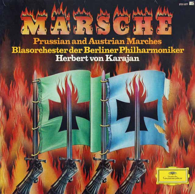 カラヤンのドイツ行進曲集 独DGG 3140 LP レコード