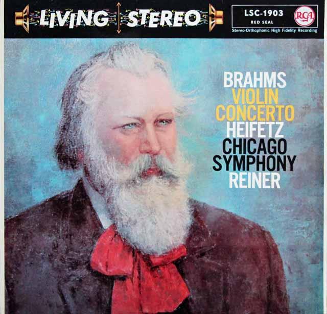 ハイフェッツ&ライナーのブラームス/ヴァイオリン協奏曲 独RCA 3141 LP レコード