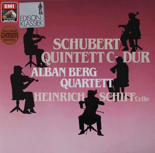 アルバン・ベルク四重奏団&シフのシューベルト/弦楽五重奏曲 独EMI 3142 LP レコード