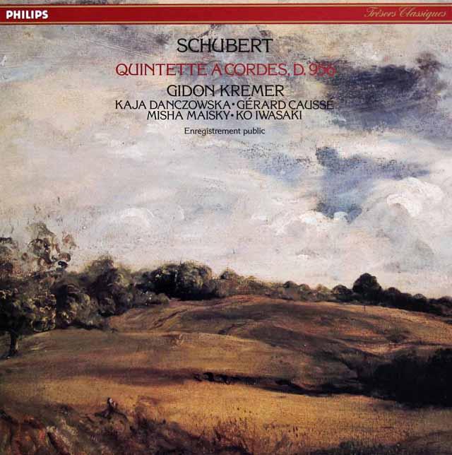 クレーメルらのシューベルト/弦楽五重奏曲 仏PHILIPS 3142 LP レコード