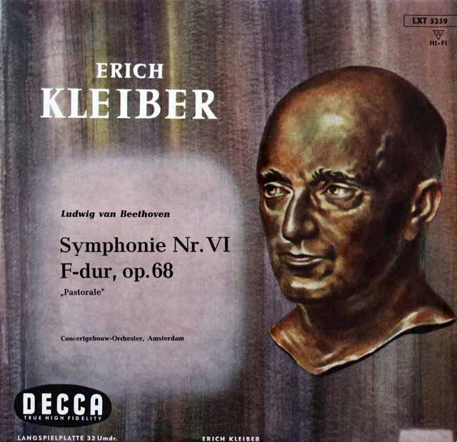 エーリヒ・クライバーのベートーヴェン/交響曲第6番「田園」 独DECCA 3143 LP レコード