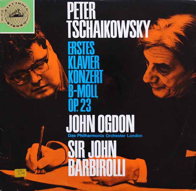 オグドン&バルビローリのチャイコフスキー/ピアノ協奏曲第1番 独ELECTROLA 3143 LP レコード