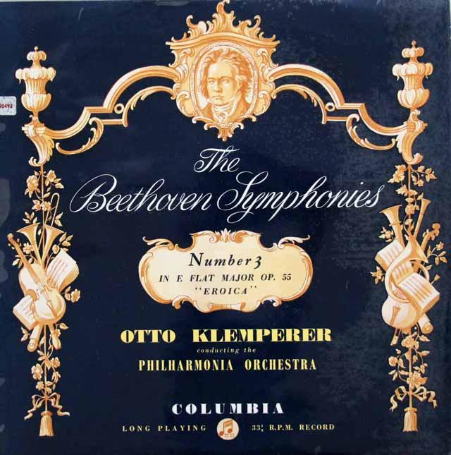クレンペラーのベートーヴェン/交響曲第3番「英雄」  英Columbia 3143 LP レコード