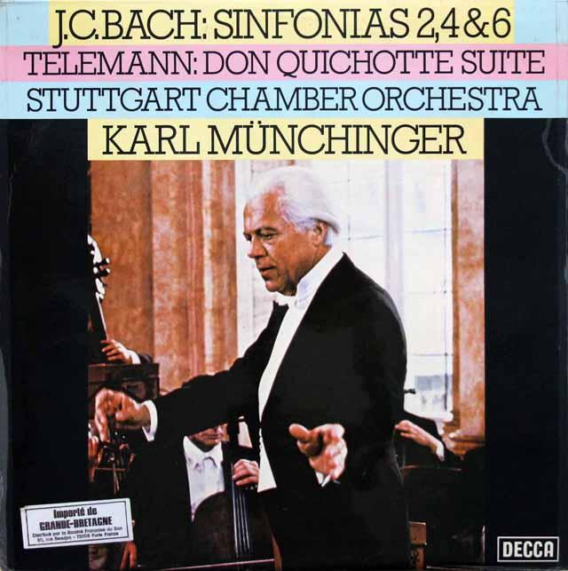 【オリジナル盤】ミュンヒンガーのバッハ/シンフォニア 第2, 4 & 6番ほか 英DECCA 3143 LP レコード