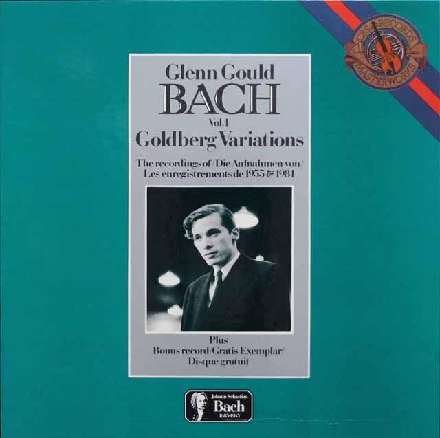 グールドのバッハ/ゴルトベルク変奏曲1955&1981年録音 蘭CBS 3143 LP レコード