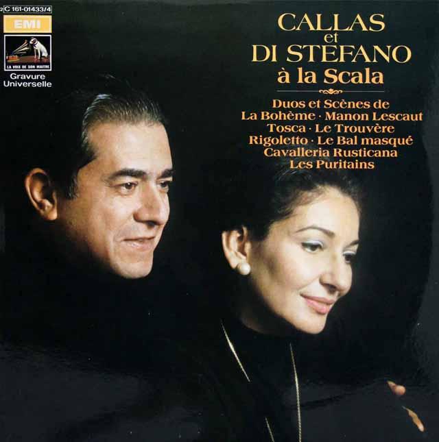 カラス&ディ・ステファーノのスカラ座デュオ・アリア集 仏EMI 3146 LP レコード