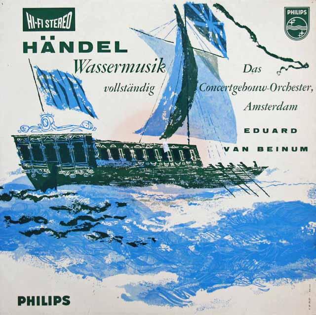 【オリジナル盤】ベイヌムのヘンデル/水上の音楽 蘭PHILIPS 3146 LP レコード