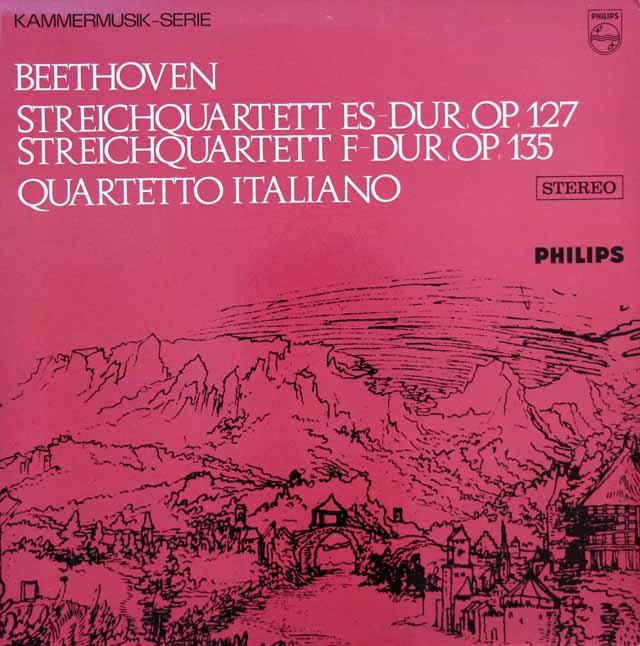 イタリア四重奏団のベートーヴェン/弦楽四重奏曲第12&16番 蘭PHILIPS 3201 LP レコード