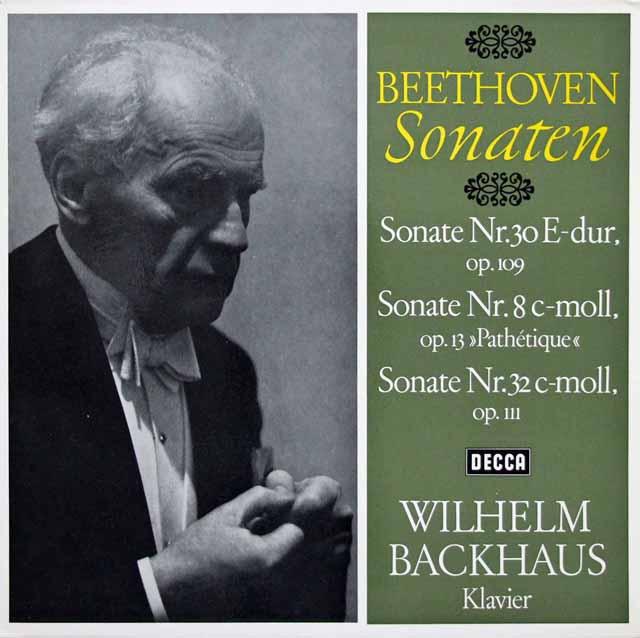 【内袋未開封】 バックハウスのベートーヴェン/ピアノソナタ第30、32&8番「熱情」 独DECCA 3201 LP レコード
