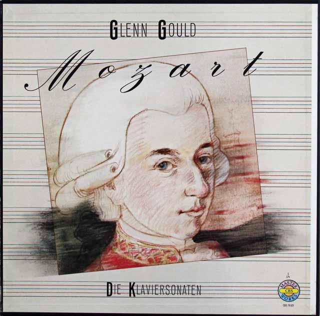 グールドのモーツァルト/ピアノソナタ全集 独CBS 3201 LP レコード